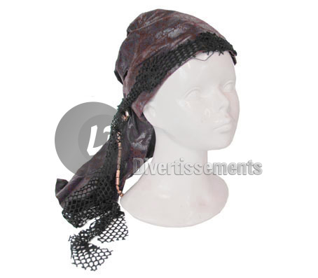 bandana pirate imitation cuir