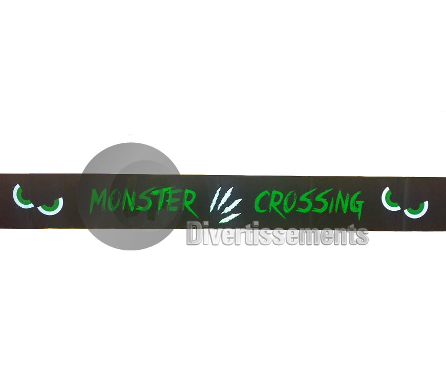 "cordon de sécurité ""Monster crossing"" 6m10"