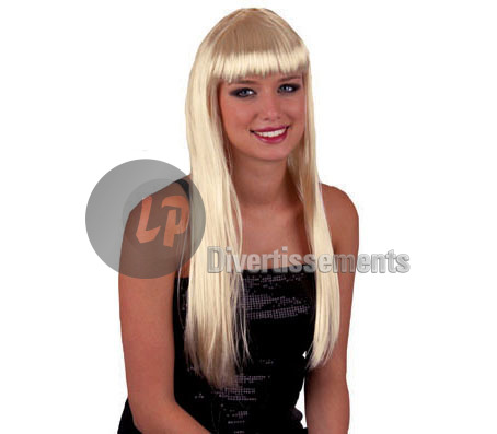 perruque cheveux longs pretty pony BLOND PLATINE