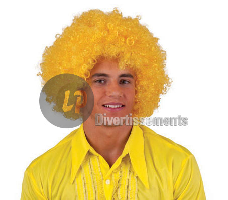 perruque afro moyenne JAUNE