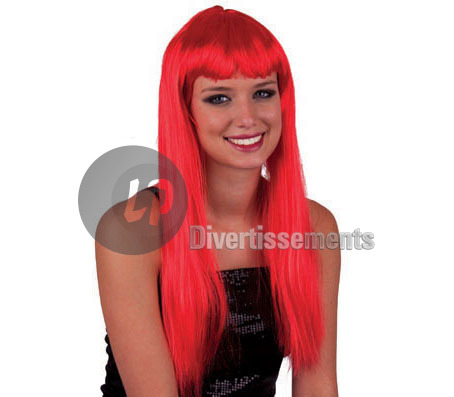perruque cheveux longs pretty pony ROUGE