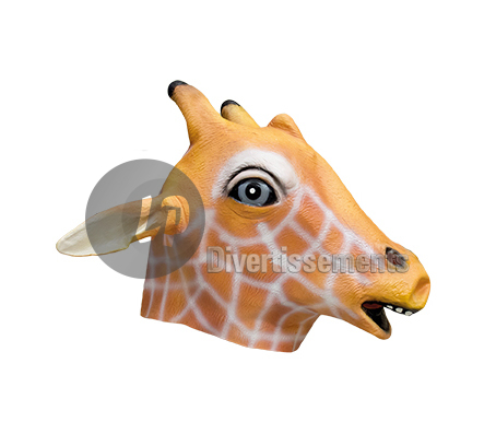 masque latex girafe