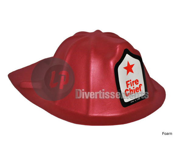 casque de pompier en mousse EVA Fire Chief ROUGE