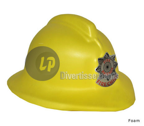 casque de pompier en mousse EVA Fire Chief JAUNE
