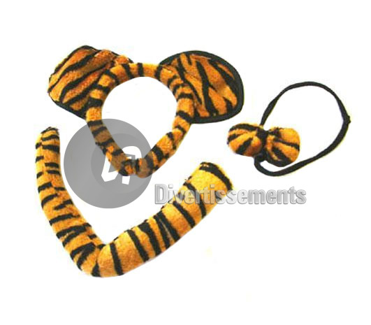 set deguisement tigre ORANGE & NOIR