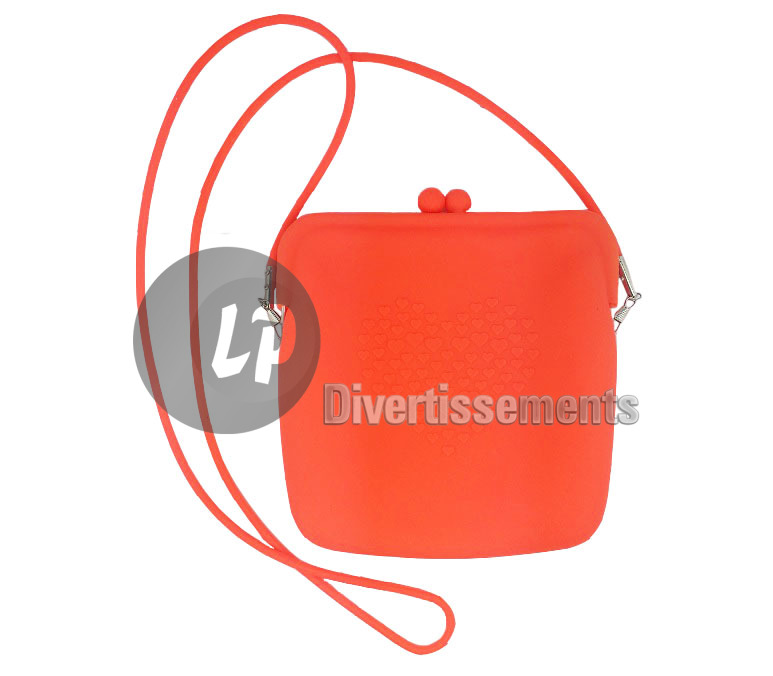 sac à main en silicone néon 20cm ORANGE