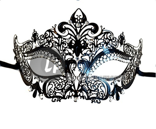 masque loup LUXE avec strass