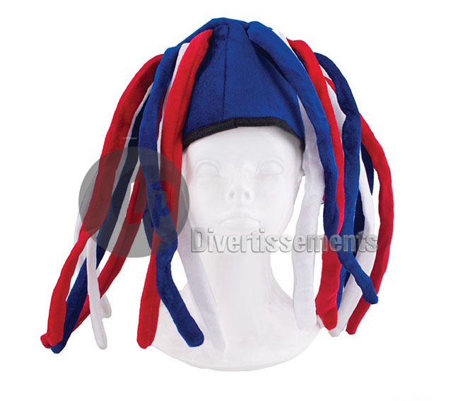 bonnet rasta avec Dreadlocks FRANCE USA RUSSIE