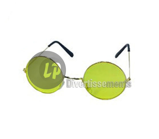 lunettes gag baba cool rondes JAUNE
