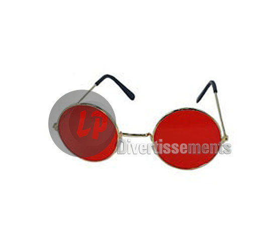 lunettes gag baba cool rondes ROUGE