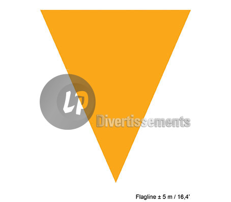 guirlande 10 fanions uni ORANGE 5m