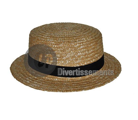 chapeau canotier luxe taille 55