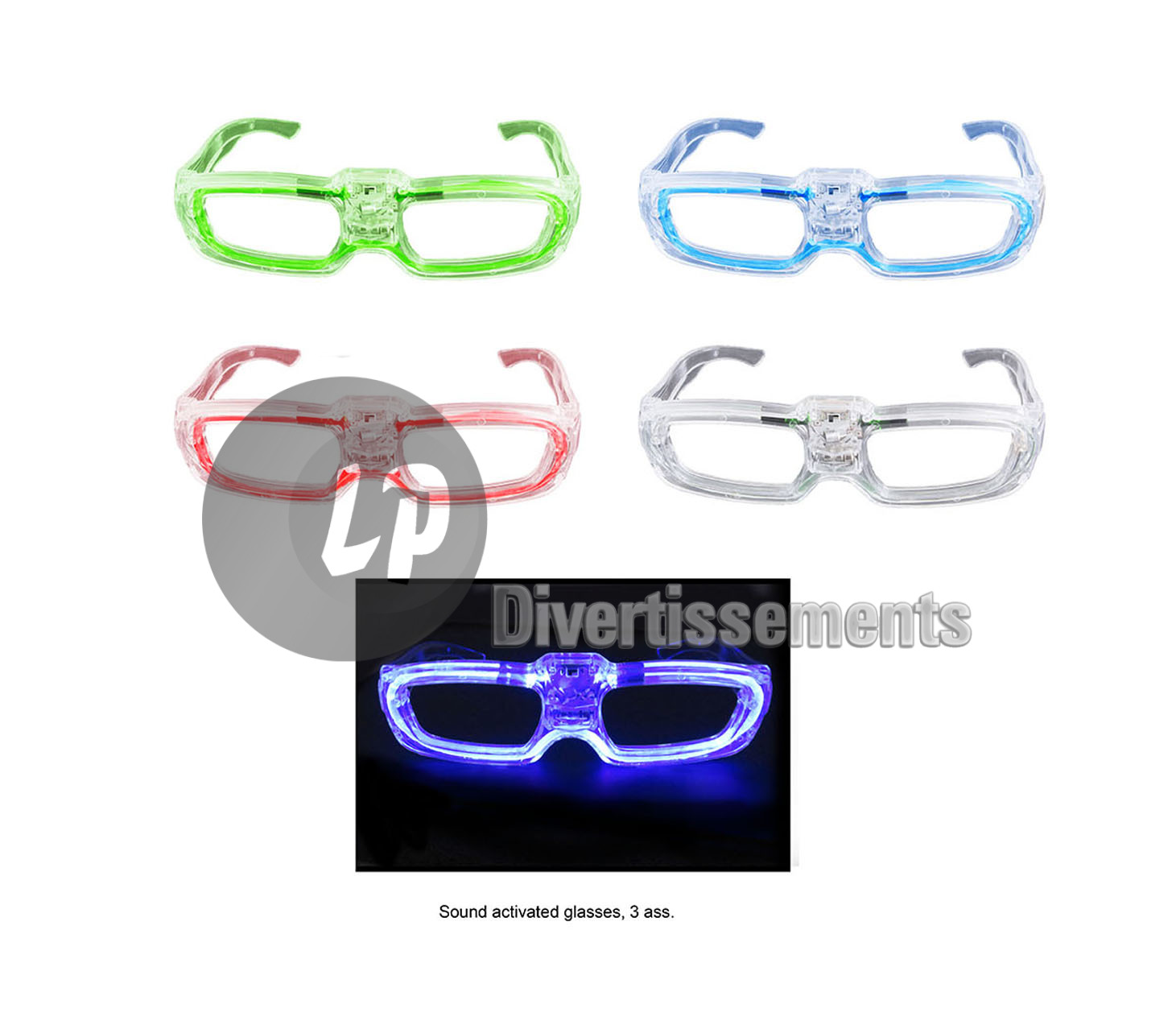 lunettes lumineuses Sound Control MIX