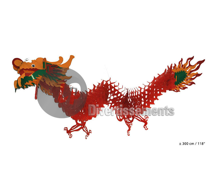 décoration chinoise dragon 3m