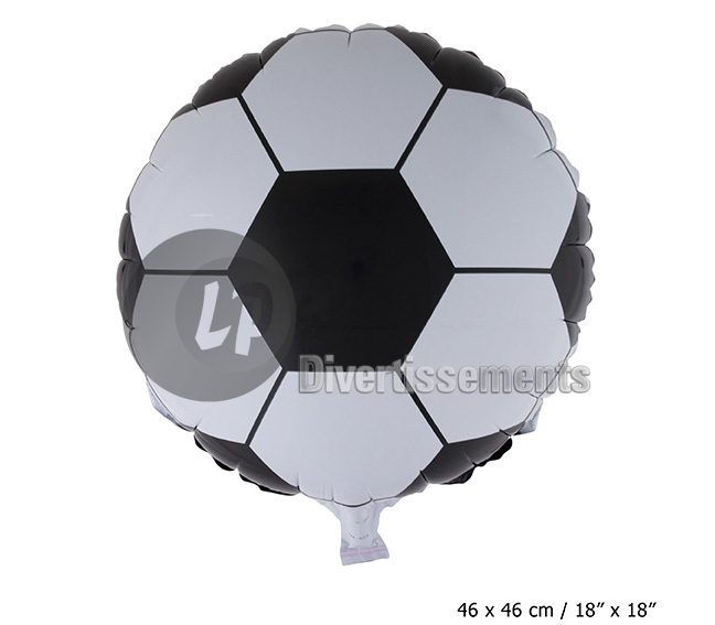 ballon aluminium FOOTBALL 46x46cm