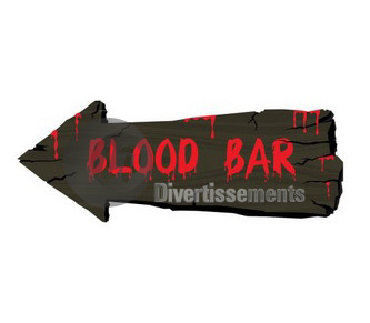 "décoration murale halloween ""Blood Bar"" 50cm"