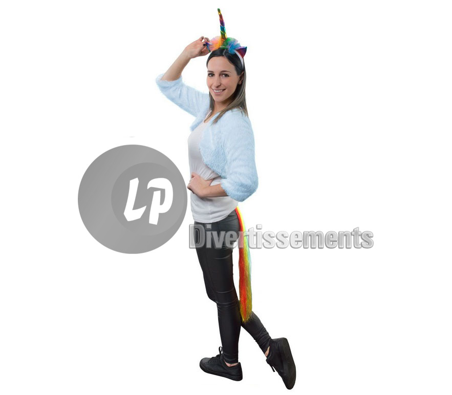 set de déguisement de licorne multicolore 2pcs