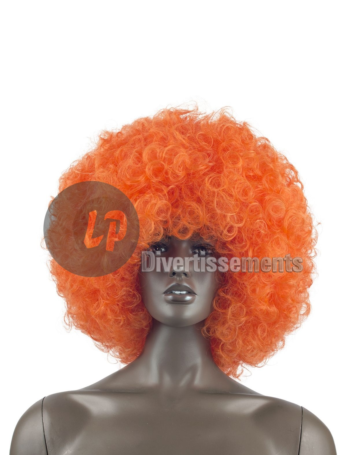 perruque afro chico géante ORANGE