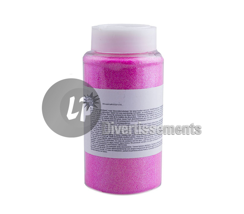 pot de paillettes ROSE FLUO 500gr
