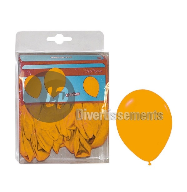 lot de 40 ballons latex opaques ORANGE 30cm