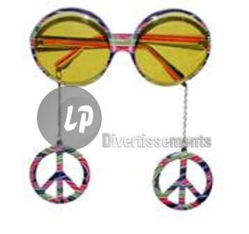 lunettes gag Peace and Love