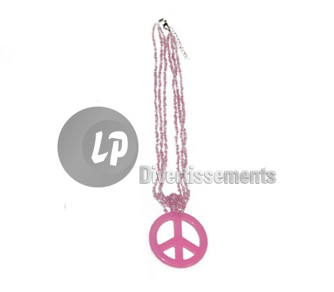 collier peace & love ROSE