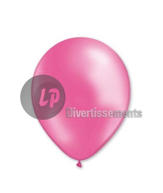lot de 100 ballons latex métallisés ROSE 29x40cm
