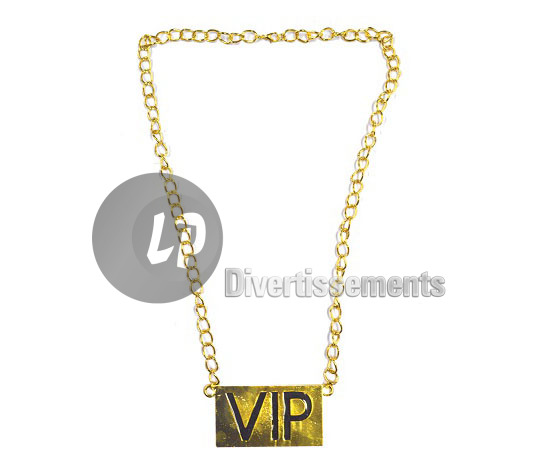 collier VIP en métal brillant OR