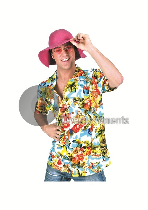 chemise Tahiti Hawaï MULTICOLORE CLAIR Taille XXL