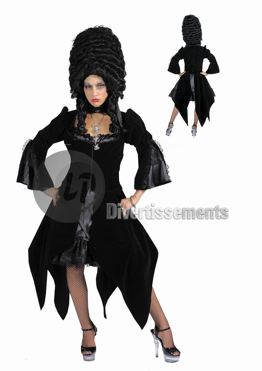 gothic costume<br>black woman t44/46
