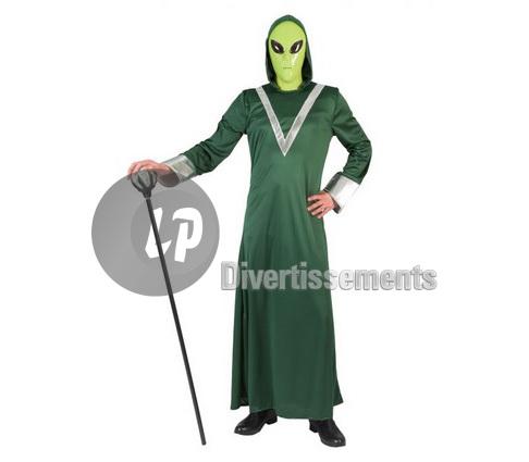 Taille Sorcier Alien Unique Déguisement Adulte De Vert qGSVzUMp