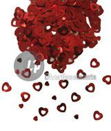 confettis de table coeur ROUGE
