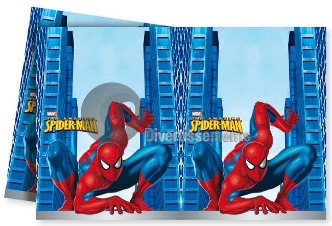 Spiderman nappe en plastique 180x120cm