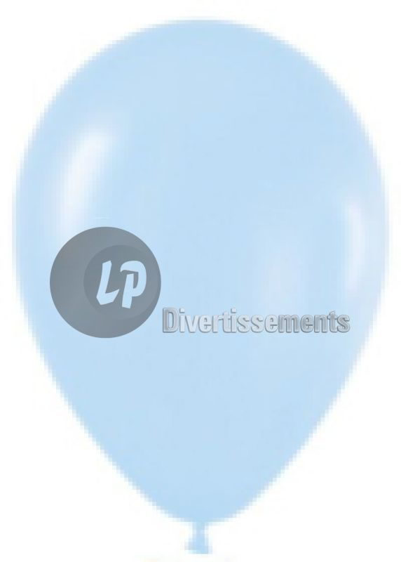 ballon latex opaque BLEU CLAIR 29x40cm