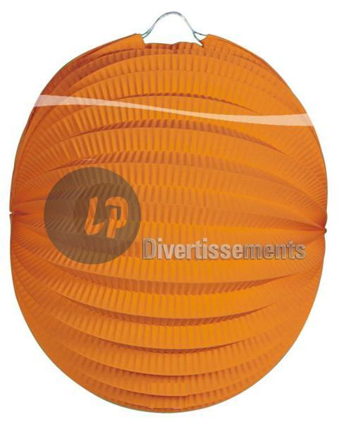 lampion rond ORANGE 22cm
