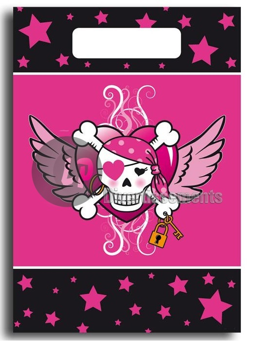 pirate ROSE lot de 8 sachets 24x17cm