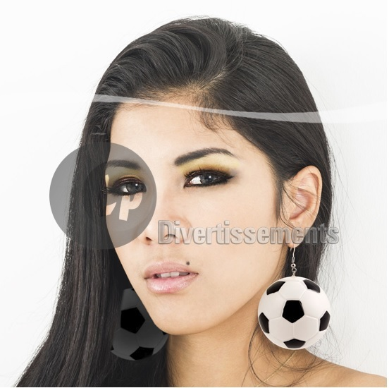 boucles d'oreilles ballon de football