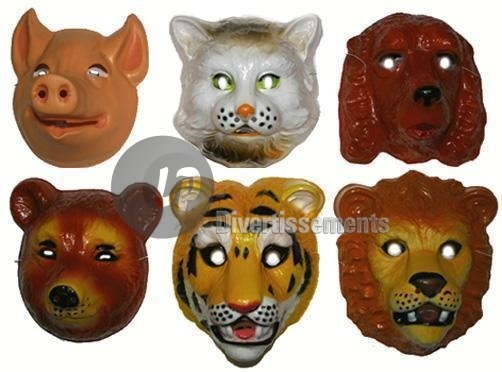 masque coque animaux ADULTE mix