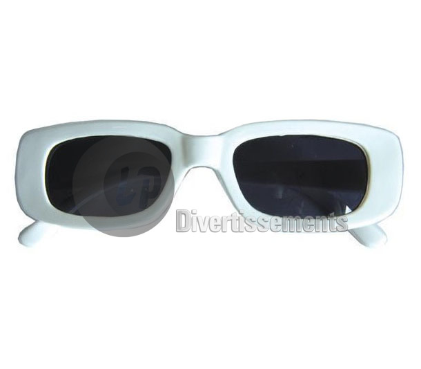 lunettes rectangle blanche