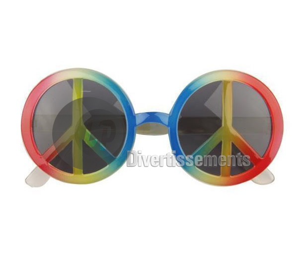 lunettes Peace & Love relief