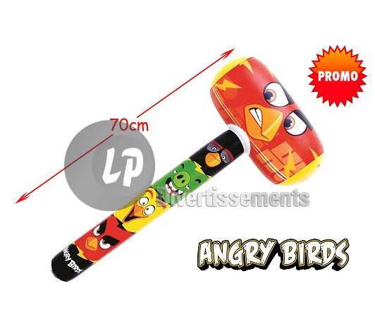 marteau gonflable ANGRY BIRDS 70cm