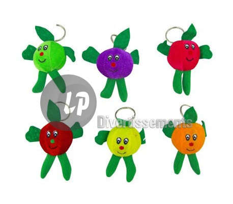 porte-clefs peluche fruit MIX 10cm