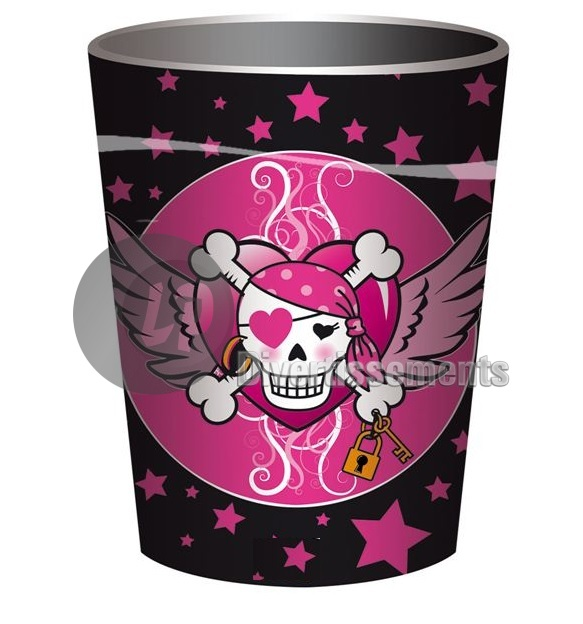 pirates ROSE lot de 8 gobelets en plastique