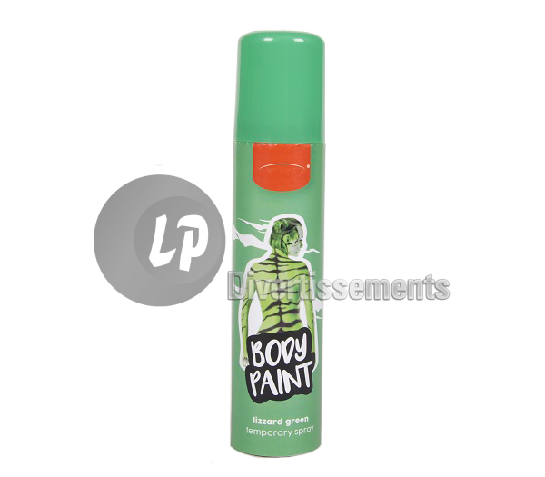 bombe maquillage spray VERT 75ml