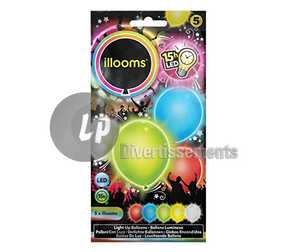 lot de 5 ballons LED lumineux MULTICOLORE