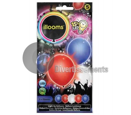 lot de 5 ballons LED lumineux FRANCE