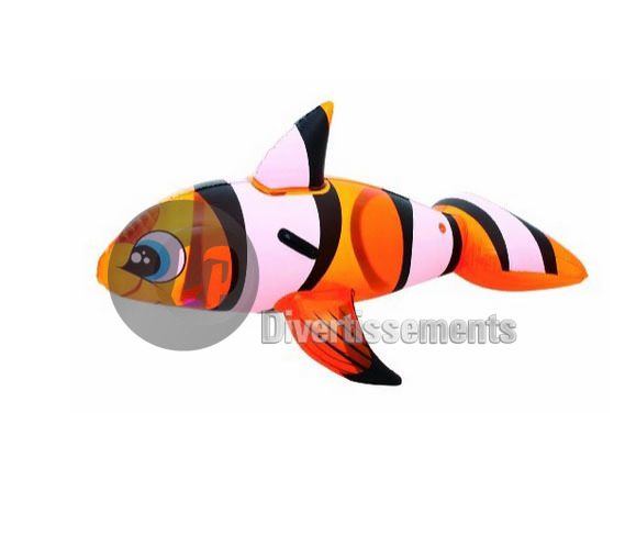 poisson clown gonflable chevauchable 1.57x0.94m