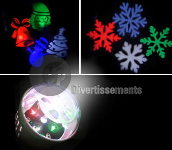 projecteur LED's 1W 4 motifs colorés MIX