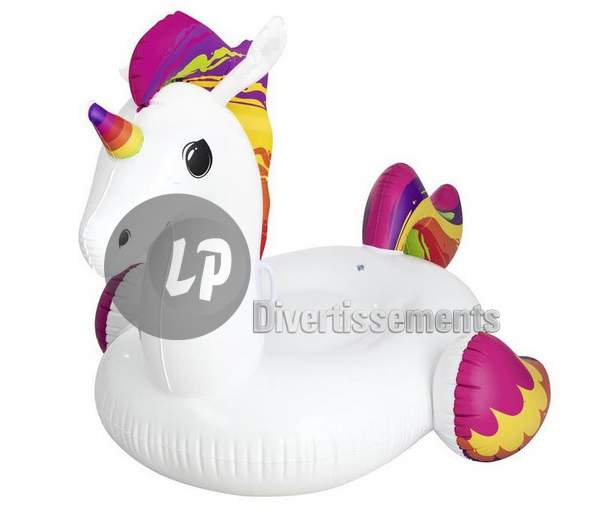 licorne gonflable chevauchable 224x164cm