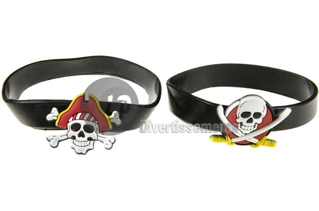 bracelet gel pirate PETIT en sachet